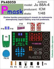 JUNKERS Ju-88 A-4 CANOPY PAINTING MASK TO ICM & REVELL #48059 1/48 PMASK