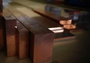 Kupfer E - Cu Platte 100 x 5 mm Länge 100 - 500 mm CW 004 A Kupferplatte Flach