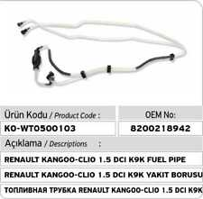 Renault Clio Kangoo Logan 1.5 DCI K9K Fuel Pipe Set 8200218942