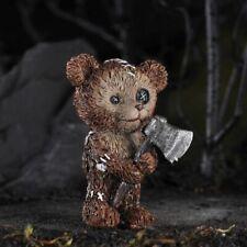Miniature Fairy Garden Teddy Bear w/ Axe - Buy 3 Save $5