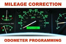 Speedometer Instrument Cluster Odometer Mileage Correction/ programming service