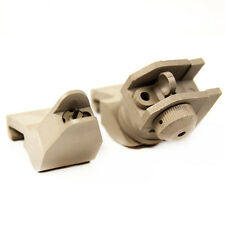 Tan Glass Filled Polymer 45 Degree Offset Sight Front and Rear BUIS Backup