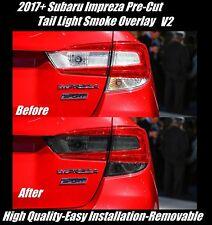 2017 + Subaru Impreza Sedan Pre Cut Tail Light Dark Smoke Overlay V2