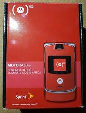 Motorola Razr V3m Red Sprint Cellular Phone w/box Read Description