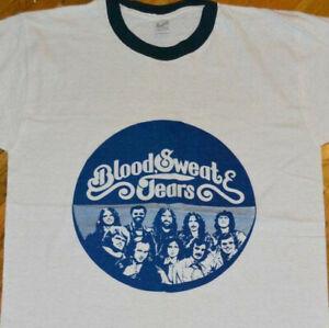 *1974 BLOOD SWEAT & TEARS* vtg r&b jazz rock concert tee t-shirt (L) 1970's MINT