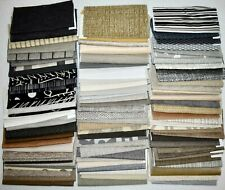 UPHOLSTERY FABRIC SAMPLES Lot of 100 NEUTRAL COLORS Black Taupe Gray White Tan