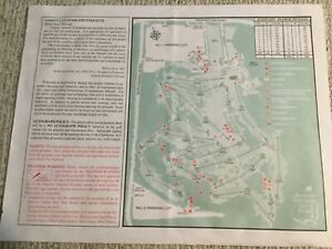 Tiger Slam 2001 Masters  Augusta National Golf Course Map TIGER WOODS