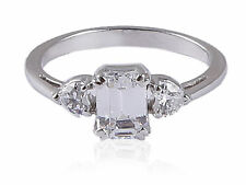 Gorgeous 0.90 Cts Emerald Heart Cut Natural Diamonds Engagement Ring In 14K Gold