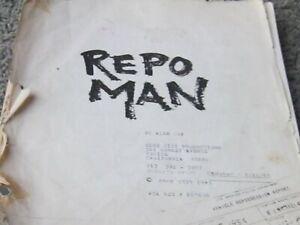 REPO MAN. Original script 1983. Punk cult classic. ALEX COX, EMILIO ESTAVEZ