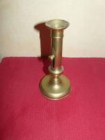 Bougeoir à bouton Louis Philippe laiton 20 cm (REF 441012)