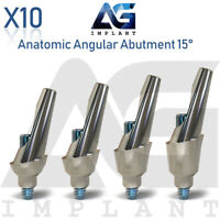 10 Anatomic Angular Abutment 15° Aesthetic Titanium Dental Implant Internal Hex