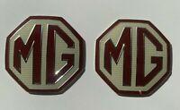 PAIR OF OEM FRONT/ REAR MG Car Badge Fits MG ZR ZS ZT MGF INSERTS MGZR MGZS