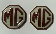 PAIR OF OEM FRONT/ REAR MG Car Badge Fits MG ZR ZS ZT MGF INSERTS MGZR MGZS