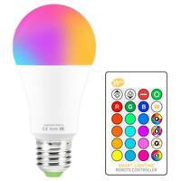LED Light Bulb RGB 16 Color Changing Magic Bulb 5W 10W 15W 110V 220V E27 RGB