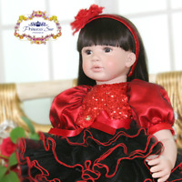 "New 22"" Handmade Vinyl Silicone Reborn Baby Dolls Lifelike Girl Doll Erica Gift"