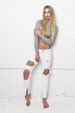Liquor & Poker Skinny Extreme Distressed Ripped Knees Jeans 8 BNWT RRP £38.99