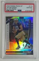 Jacob Eason 2020 Panini Prizm Draft Picks Silver Rookie Card RC PSA 10 POP of 17