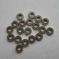 100pcs Tibetan silver Round  Beads Cap Spacer 8 x2 mm