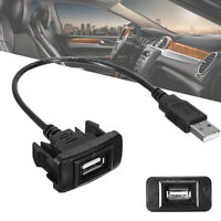 Car Dashboard Flush Mount USB Female to Male Extension Cable Adapter For Toyota
