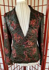 Demetrios Evening Sequin Beaded Formal Jacket sz 6