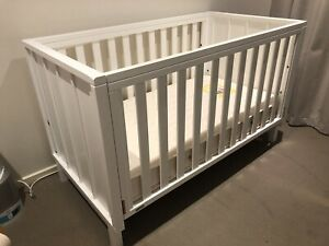 Boori Urbane Byron 3 in 1 Cot/Toddler Bed - White
