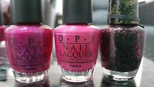 OPI trio bundle 15mL - Flashbulb Fuchsia / Kiss Me on My Tulips / Stay the Night