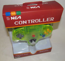 *NEW* Nintendo 64 Cirka Wired Remote Controller Gamepad N64 Clear Extreme Green
