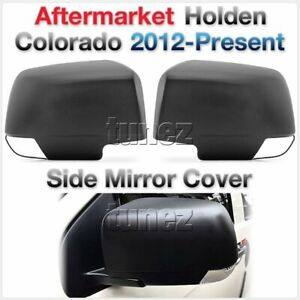 Tunez Matte Matt Black Side Mirror Cover Guard For Holden Colorado LT LTZ LS LSX