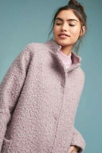 ANTHROPOLOGIE Greylin Windermere Boucle Cocoon Coat Jacket S NWT