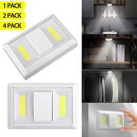 LED COB Cabinet Closet Light Kitchen Corridor Strip Nightlight Wall Lamp Switch