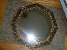 PartyLite Global Fusion Mirrored Candle Tray ~ Mint Pre-Owned In Original Box ~
