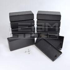 10pz Contenitore 120x56x31 mm - custodia per elettronica in ABS nero - ART. GE18