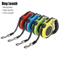 Flexible Retractable Dog Leash Lead Pet Traction Rope Walking Training Supply UK