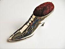 Escarpin époque Art Déco pique aiguilles ou pique épingles en métal argenté