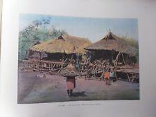 AUSTRALIE/Gravure 19°in folio couleur/Nouvelle- Guinée:Karapuna village indigène