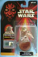 Star Wars TPM Yoda w/ Jedi Chair & CommTech chip, sealed red card figure
