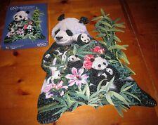 PRECIOUS PANDA shaped jigsaw puzzle Russell Cobane bamboo waterfalls 2001