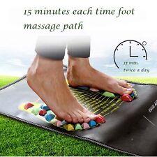 Reflexology Walk Stone Foot Leg Pain Relief Walk Massager Acupressure Mat Care