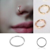 Fake Nose Ring Septum Ring Hoop Cartilage Tragus Helix Small Piercing New UK SO