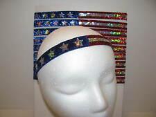 Red White Blue Glitter Headband USA Olympics American Flag Non slip FREE SHIP