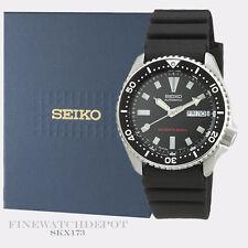Authentic Seiko Diver's Polyurethane Automatic Black Watch SKX173
