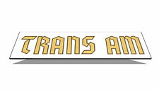 1976 1977 1978 Black Trans Am Special Edition German Gold Name Bird Stripe Decal