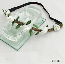 FREE GIFT BAG White Flower Music Festival Party Head Band Womens Hair Accessory