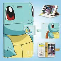 iPhone SE 6 6S 7 Plus 5 5S 5C 4 4S Flip Wallet Case Cover Pokemon Squirtle W078