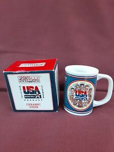 RARE Vintage 1992 Barcelona Olympics Team USA Basketball Dream Team Stein Mug