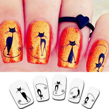 Cute Cat Nail Sticker Water Transfer Slide Decal Sticker Nail Art Tips To Decor
