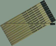 12 pkg - Natural Wood Personalized Hexagon Pencils - ** FREE PERZONALIZATION**