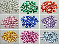 250 Acrylic Flatback Faceted Round Rhinestone Gems 8mm No Hole Pick Your Colour