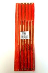 Chinese Oriental Red Candles on Wooden Sticks Ideal for Praying/Display