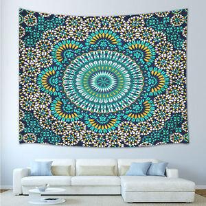 NEW turquoise Twin Mandala Tapestry Dorm Room Decor Bohemian Wall Hanging Art